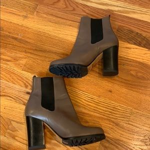 Coach taupe leather high heel Chelsea ankle boots